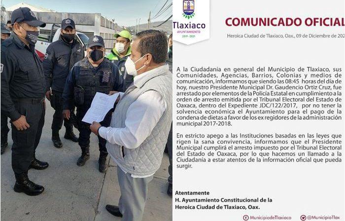 Por desacato al TEEO, detienen a edil de Tlaxiaco