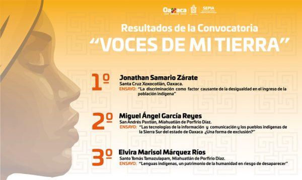 """Emite SEPIA resultados de la convocatoria """"Voces de mi Tierra"""""""