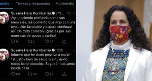 Senadora Susana Harp da positvo a Covid