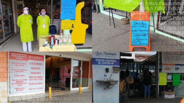 Mas de 120 sospechosos de covid, han detectado los módulos en plazas y terminales de Tuxtepec