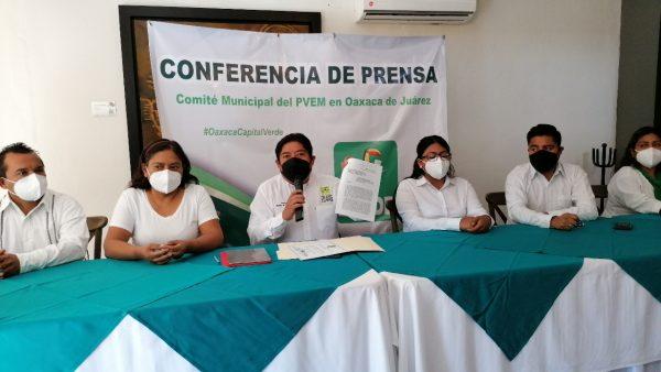 Advierte CDM del PVEM en Oaxaca que no aceptará imposición de candidatos