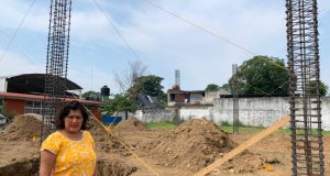 Cancha Techada para escuela Roberto Colorado, resultado de esfuerzos y coordinación: Laura Estrada Mauro