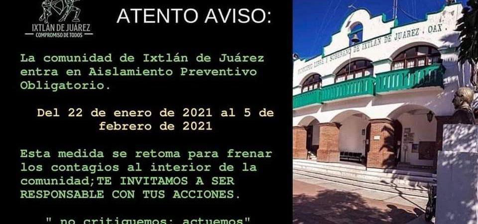 Para evitar más contagios, habrá toque de queda en Ixtlán