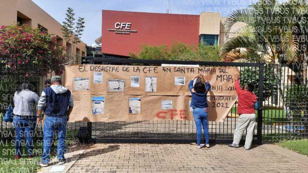 Denuncian presunto desvío de recursos en obra de CFE en Santa María del Mar