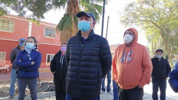 Habitantes de Jalatlaco se manifiestan y detienen obra