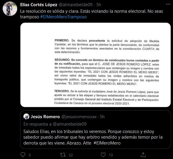 IEEPCO ordena retirar propaganda de Jesús Romero, incurrió en acto anticipado de campaña
