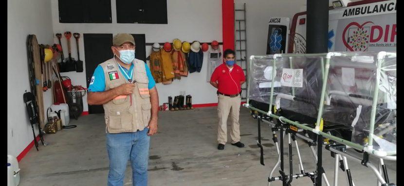 PC de Loma Bonita crea cápsula para traslado de de pacientes COVID