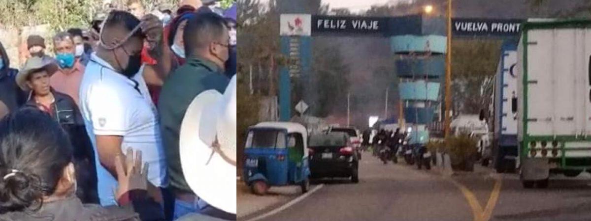 Pobladores de Sola de Vega bloquean la entrada a la comunidad; exigen destitución del edil