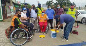 Propone dirigente taxista isla de ascenso y descenso afuera del IMSS en Tuxtepec