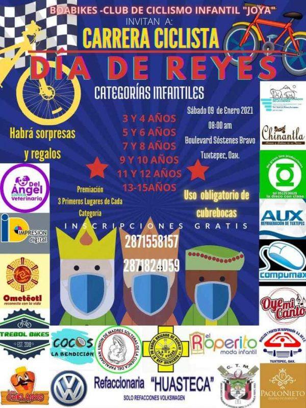 Realizarán carrera ciclista infantil en Tuxtepec, por Día de Reyes