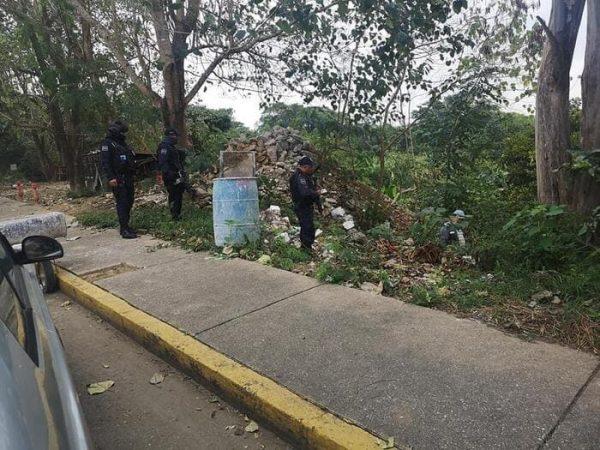 Realizan primera detención en Tuxtepec, por tirar basura en el muro boulevard