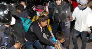 GN llega a la frontera sur para impedir el paso a caravana migrante