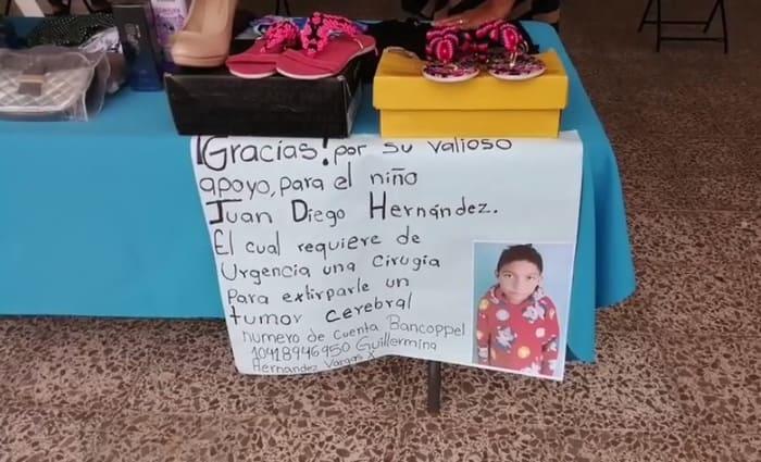 Juan Diego necesita ser operado de un tumor cerebral, lomabonitenses solicitan apoyo