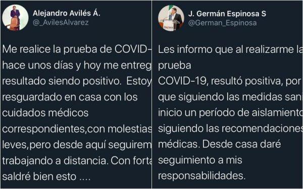 Diputado Avilés y Secretario de Administración del gobierno de Oaxaca, dan positivo a Covid