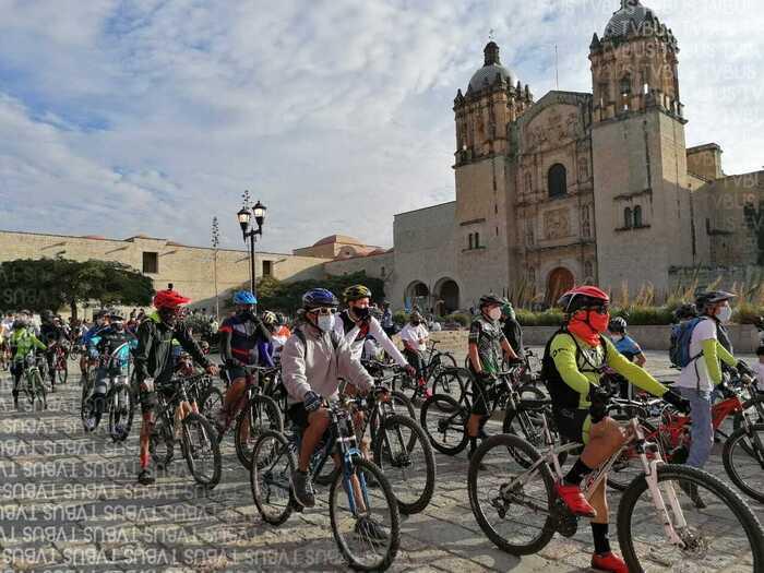 Realizan rodada en Oaxaca por ciclistas fallecidos