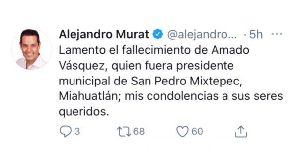 Por covid-19 fallece otro presidente municipal en Oaxaca