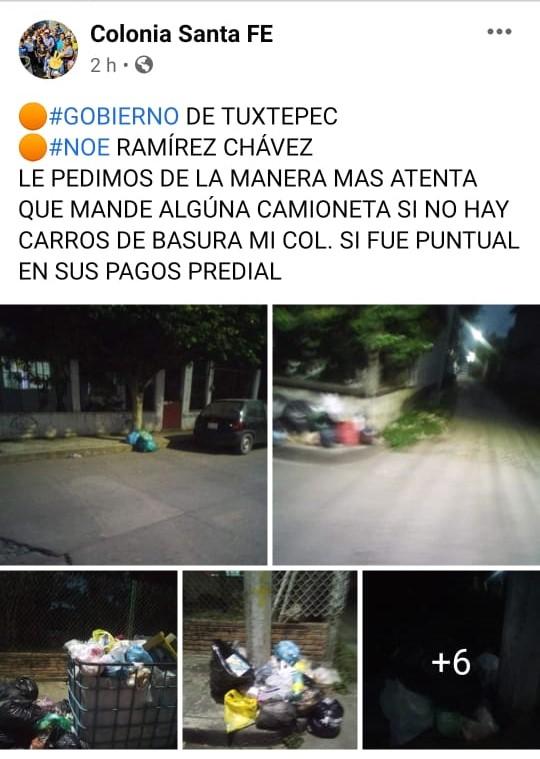 Niegan autoridades de Tuxtepec, fallas en el servicio de basura