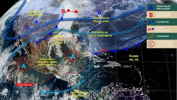 Se esperan lluvias fuertes, para Chiapas, Oaxaca, Tabasco y Veracruz