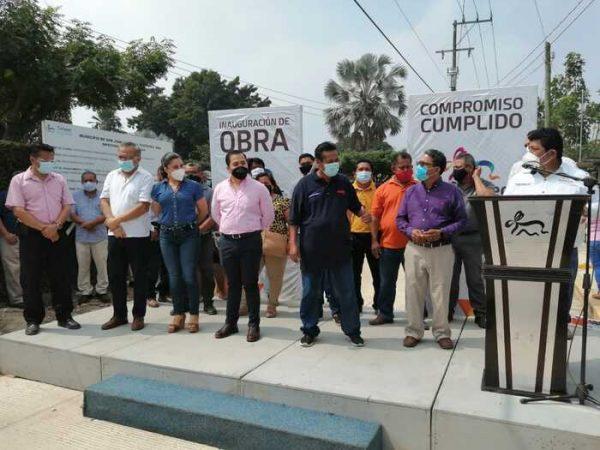 Continúa Gobierno de Tuxtepec con inauguración de obras de pavimento en colonias y comunidades