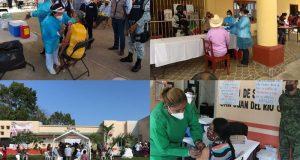 Inicia plan de vacunación contra covid, en 10 municipios de la Cuenca, Cañada y Bajo Mixe