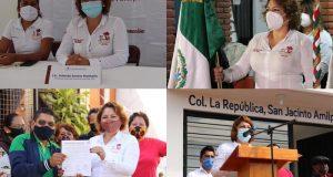 Yolanda Santos Montaño Presidenta Municipal de San Jacinto Amilpas es un ejemplo de liderazgo, trabajo y compromiso con la ciudadanía