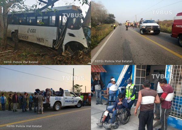 Fueron 48 víctimas en accidente carretero Tuxtepec-Loma Bonita, 24 con lesiones