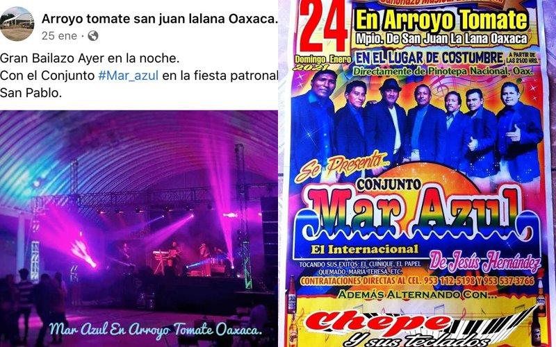Otro baile en pandemia, ahora en San Juan Lalana