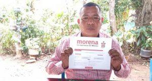 Secretario municipal de Jacatepec, se registra por Morena para contender por la presidencia