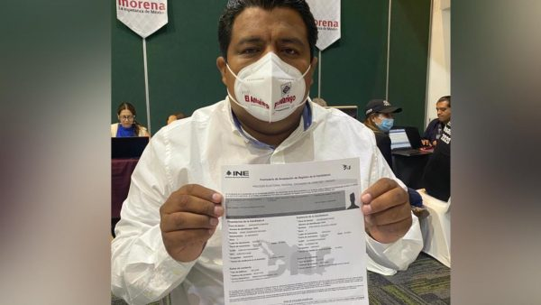 Ángel Domínguez Escobar es elegido como candidato a Diputado Federal por el distrito de Tuxtepec