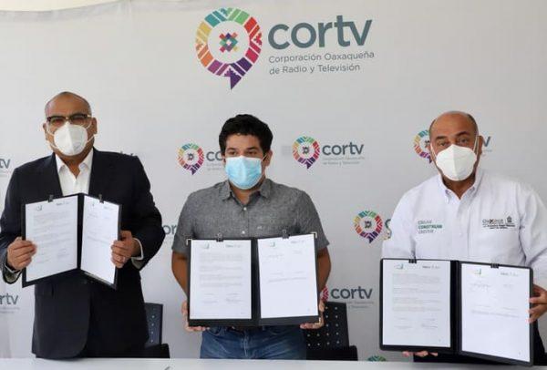 IEEPO, Cortv y Ayuntamiento de Jalapa de Díaz fortalecen la educación a distancia