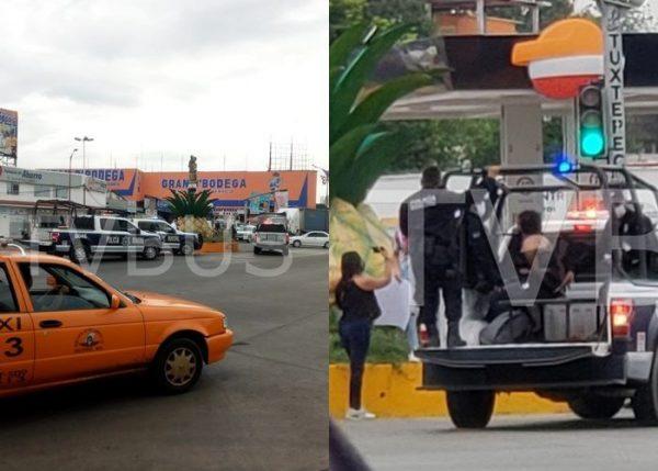 Detiene Policía Municipal de Tuxtepec a joven mujer por manifestarse; llegaron 5 patrullas