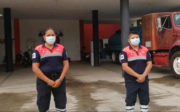 Piedad y Gabilene, las primeras mujeres rescatistas de Protección Civil de Loma Bonita