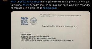Injusticia e incompetencia marcaron gestión de Rubén Vasconcelos en la FGEO: Víctimas de violencia de género