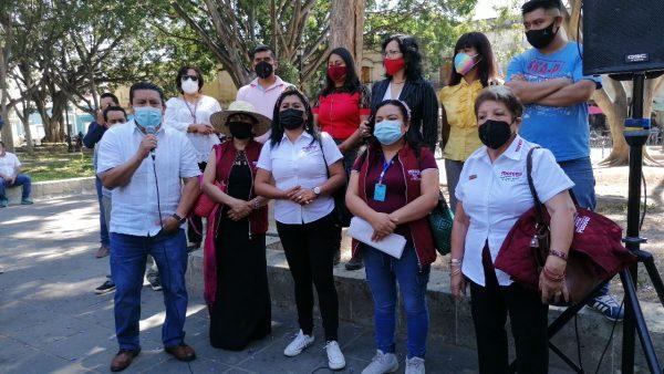 Dirigencia municipal de Morena en Oaxaca de Juárez manifiesta respaldo a Francisco Martínez Neri