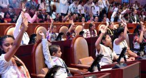 Niños y niñas seguras, tienen cobijo de la 64 Legislatura de Oaxaca