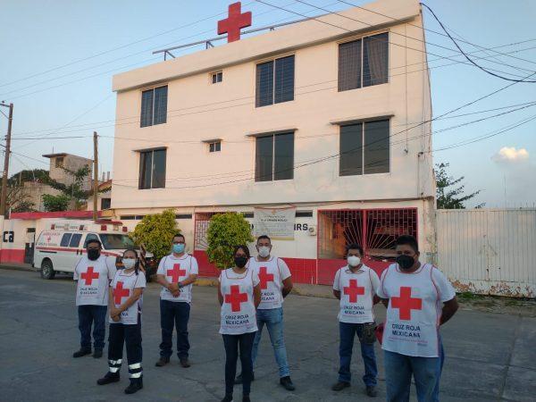 Integrantes de la Brigada de Rescate Tuxtepec se suman a la Cruz Roja