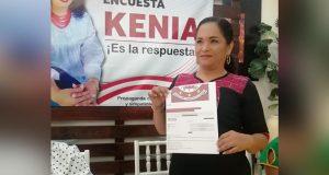 Se registra Kenia Morales como aspirante a la Diputación Local por el Distrito 02
