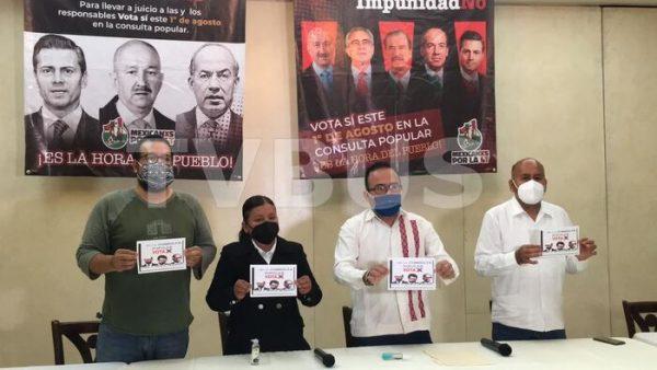 """Inicia campaña """"Juicio si, impunidad no"""" en el estado de Oaxaca para enjuiciar a exPresidentes"""
