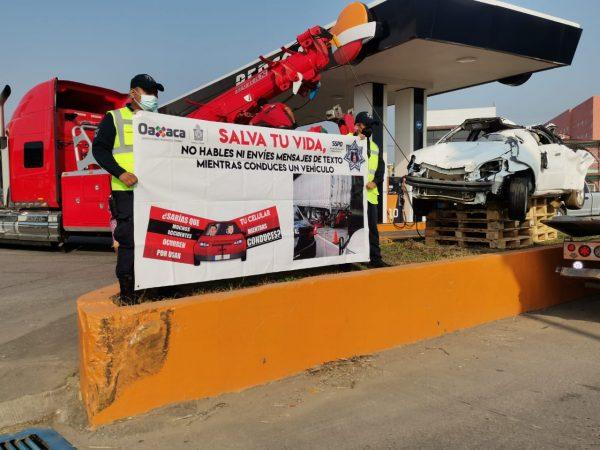 """Tránsito de Tuxtepec, coloca una vez más un """"monumento a la imprudencia"""""""