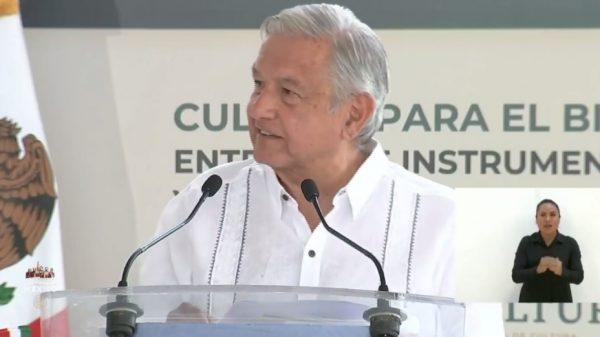 En Tuxtepec, AMLO habla sobre nuevo hospital general y carretera a Oaxaca