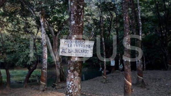 Ante riesgo de contaminación, cierran accesos al manantial de Nuevo Palantla en Valle