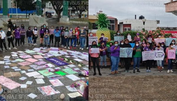 En Tuxtepec y Loma Bonita, mujeres se manifestaron por justicia y cese a la violencia de género