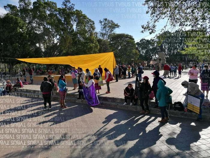 Mujeres del CIPO-RFM se concentran en Oaxaca, exigen respeto a derechos como la educación y la salud