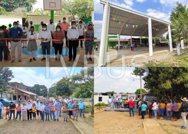 Continúa la inauguración de obras en Tuxtepec