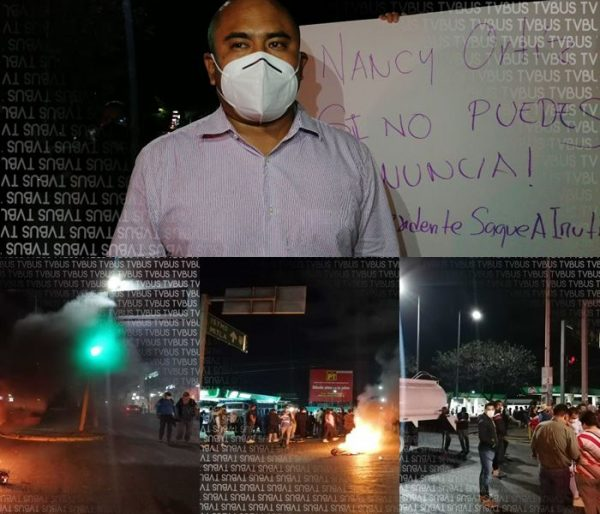 Gobierno y población de Santa Lucía del Camino exigen renuncia de Nancy Ortiz, por cancelar vacunación en ese municipio