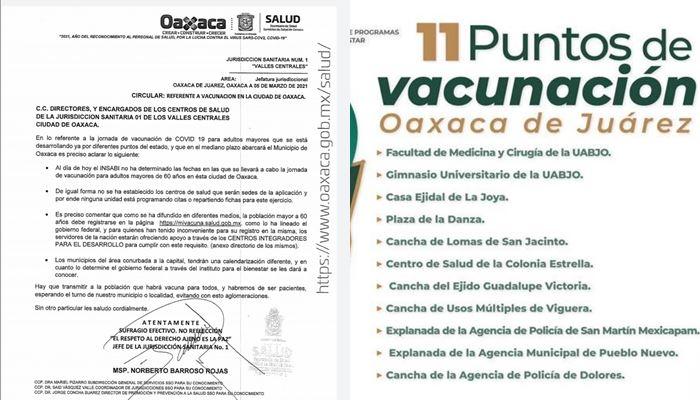 Se contradicen gobierno federal y estatal, sobre aplicación de vacuna Covid para adultos mayores en Oaxaca de Juárez