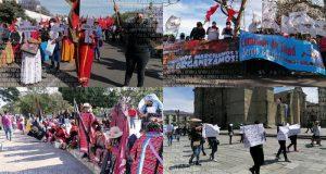 Mujeres de distintas organizaciones sociales marcharon en Oaxaca, por Día Internacional de la Mujer