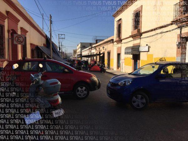 Por segundo día consecutivo, SITSS bloquea centro histórico de Oaxaca