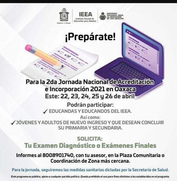 IEEA realizará examen de Acreditación, será presencial pero con todas las medidas