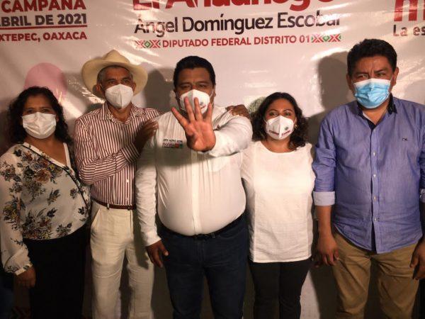 Con inauguración de oficina, Ángel Domínguez arranca campaña a Diputación Federal en Tuxtepec